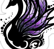 Tribal Black Swan Sticker