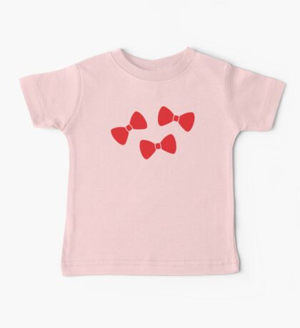 Red Bows Pattern Baby Tee