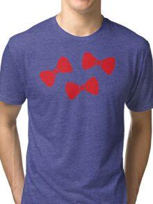 Red Bows Pattern Tri-blend T-Shirt