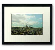 The Lava Field II Framed Print