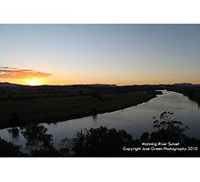 Manning River Sunset - Taree West Photographic Print