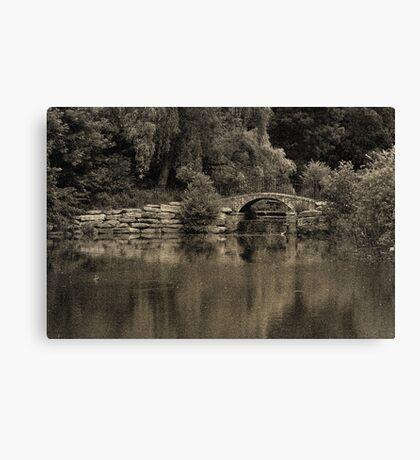 Monochrome Park Canvas Print