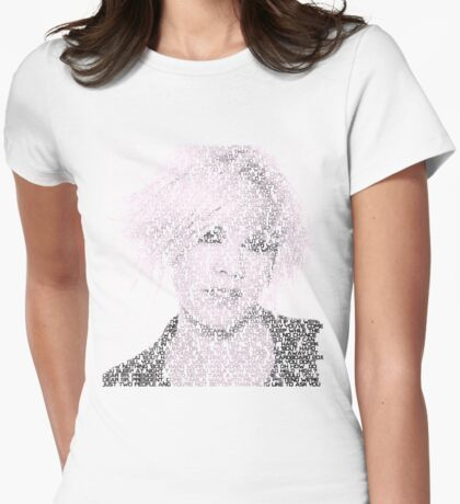 Pink - Dear Mr President Womens Fitted T-Shirt
