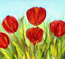 Red Tulips by CarolineLembke