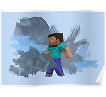 Minecraft Steve- Watercolor Poster