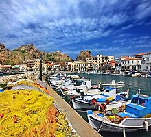 The fishing port of Myrina - Lemnos island by Hercules Milas