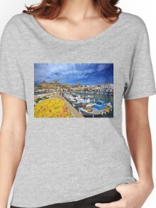 The fishing port of Myrina - Lemnos island Women's Relaxed Fit T-Shirt