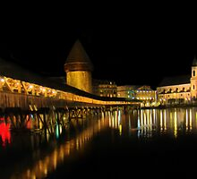 Lucerne Night Beauty II - Painting by Al Bourassa