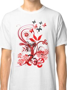 Floral tee with butterflies Classic T-Shirt