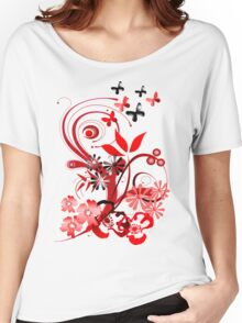 Floral tee with butterflies Women's Relaxed Fit T-Shirt