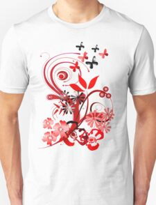 Floral tee with butterflies Unisex T-Shirt