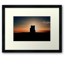 Brien's Tower At Sunset Framed Print