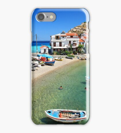 Kokkari embraced by the Aegean iPhone Case/Skin