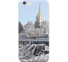 Mormon Temple - Idaho Falls Winter Scene iPhone Case/Skin
