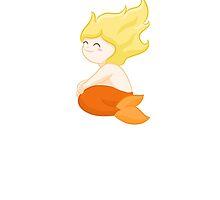 Sitting Mermaid (sticker) by Josh Bush