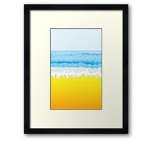 Surf, Sky, Sea, Sand, Surfer, Surfing, Wave, Wave Riding, Body Boarding,  Framed Print