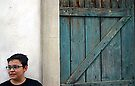 Boy Beside Door - Maglie Italy by Debbie Pinard