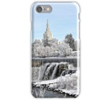Mormon Temple - Idaho Falls Winter Time iPhone Case/Skin