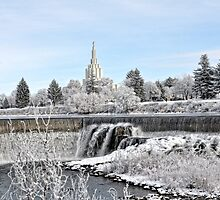 Mormon Temple - Idaho Falls Winter Time by IMAGETAKERS