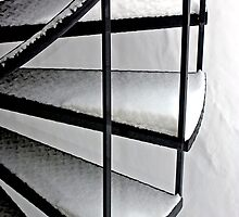 Snow Covered Stairs - Dunrobin Ontario by Debbie Pinard