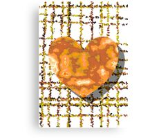 One Heart on Grid Canvas Print