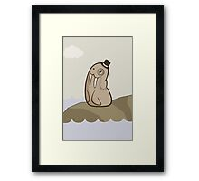 Dignified Walrus Framed Print