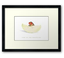 King of the Fruit Flies Framed Print