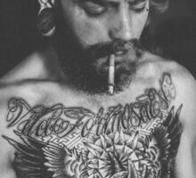 Beard Tattoo Male Portrait - Smoke Sticker