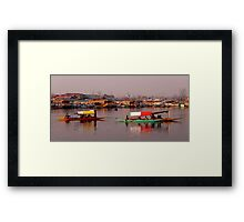 Golden Hour At Dal Lake Framed Print