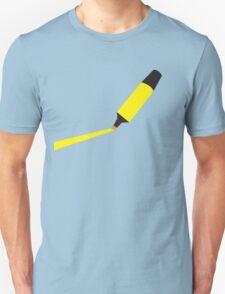 A Yellow Highlighter marker  Unisex T-Shirt