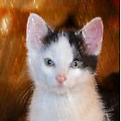 My Little Kitty With Green Eyes And A Pink Nose by Marie Sharp