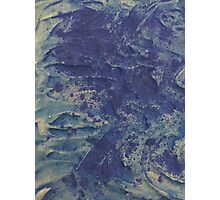 swirling waves in the deep sea Photographic Print