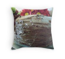 Three-Layer Chocolate Cake Throw Pillow