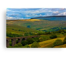 Above the Viaduct - Dentdale Canvas Print