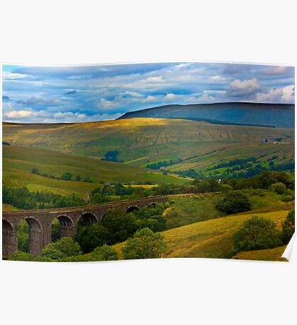 Above the Viaduct - Dentdale Poster