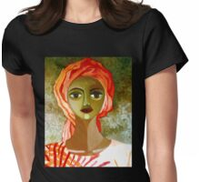 African woman with turban Womens Fitted T-Shirt