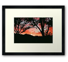 Sunset in San Rafael Framed Print