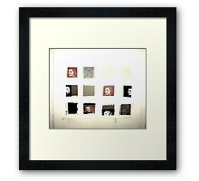 Unknown Woman Photobooth Shots Framed Print