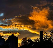 Sunset over the factory by Jeremy Lavender Photography