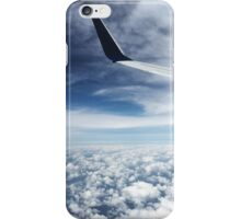 Plane Wing between Two Layers of Clouds iPhone Case/Skin