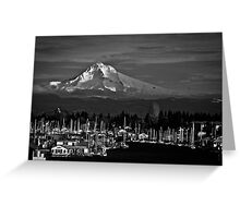 Mt. Hood Over Hayden Island 01 Greeting Card