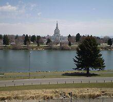Mormon Temple - Idaho Falls Green Belt by IMAGETAKERS