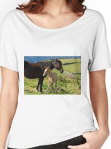 Horses In Landscape Women's Relaxed Fit T-Shirt