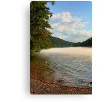 Mid-summer Foggy River Canvas Print