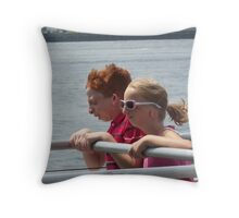 Racing to Cape Cod Throw Pillow