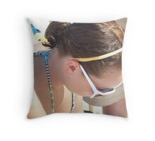 Glamour Girl Throw Pillow