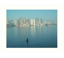 Arriving in Boston Art Print
