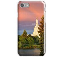 Mormon Temple - Idaho Falls Approaching Storm iPhone Case/Skin