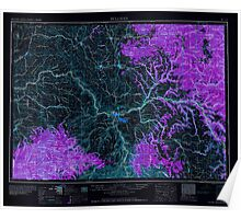 USGS Topo Map Washington Pullman 243311 1958 250000 Inverted Poster