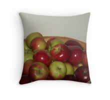 Apple Stand Throw Pillow